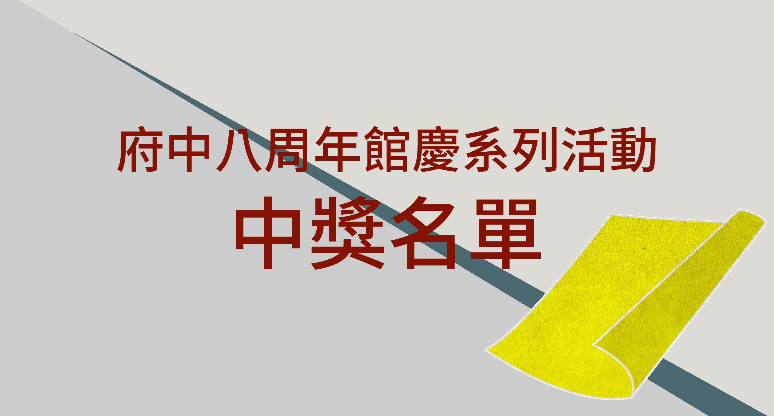館慶系列抽獎活動中獎名單